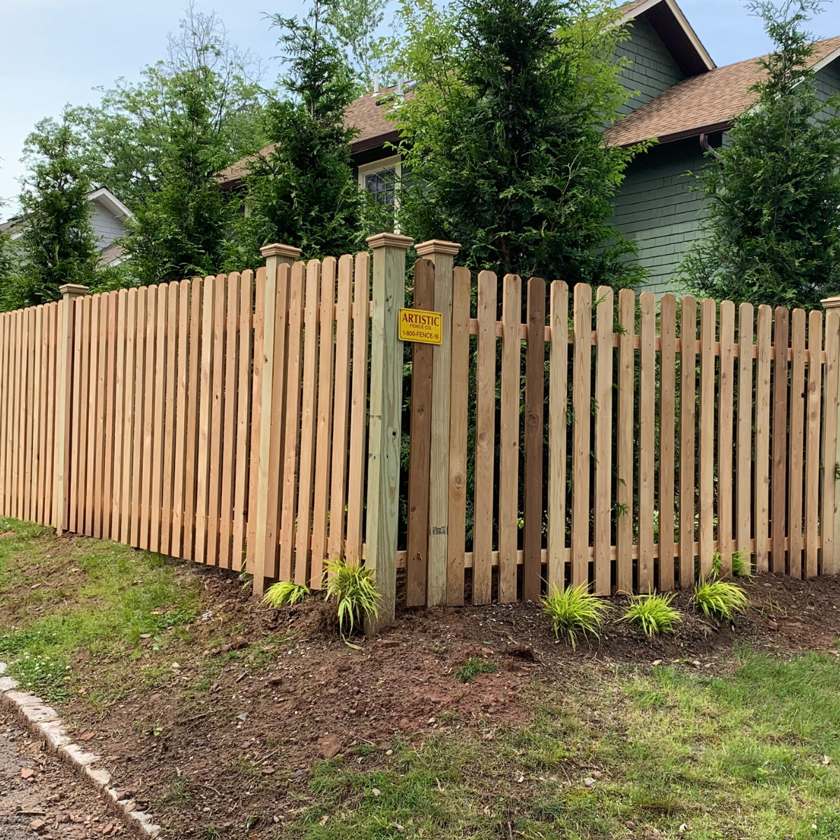 Wood fence installation in Montclair, New Jersey installed by Artistic Fence Company
